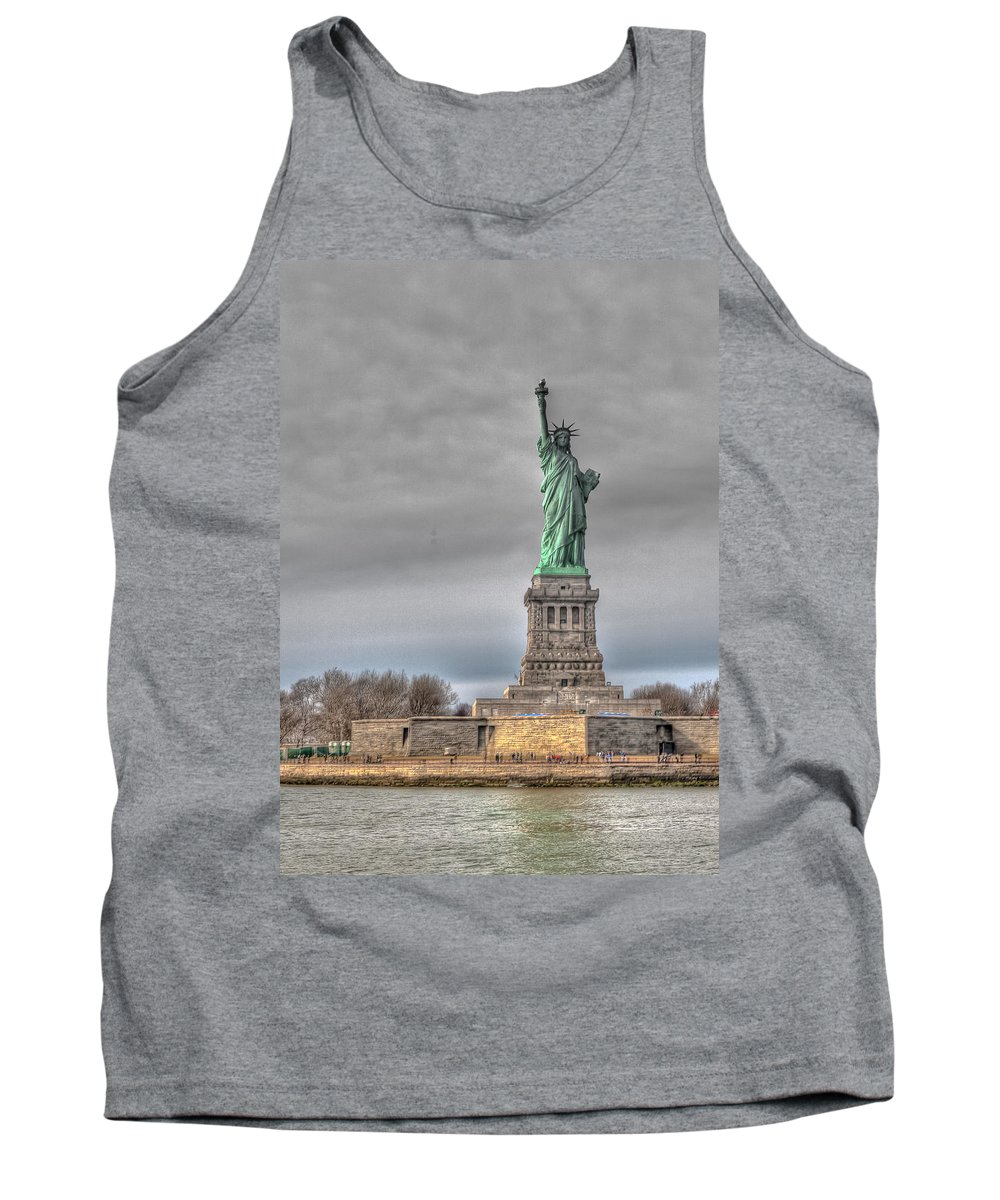 Landscape Tank Top featuring the photograph Staute Of Liberty by Jiayin Ma