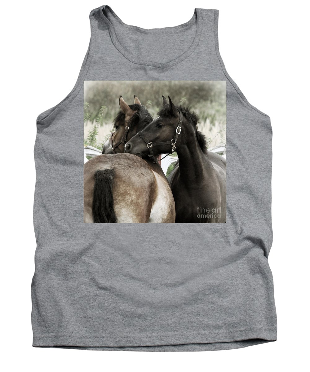Valentines Tank Top featuring the photograph Staying Together by Angel Tarantella