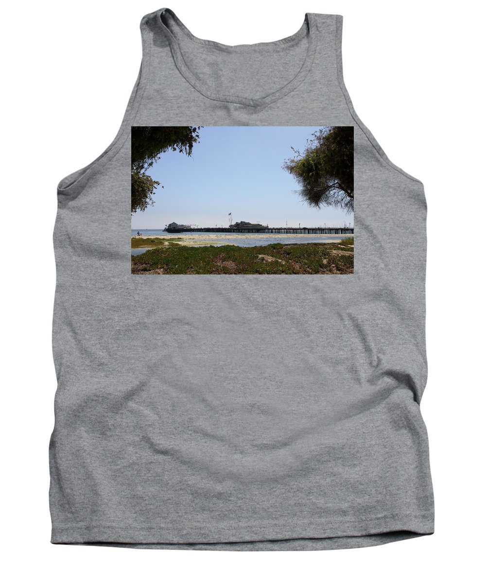 Stearns Wharf Tank Top featuring the photograph Stearns Wharf Santa Barbara by Christiane Schulze Art And Photography