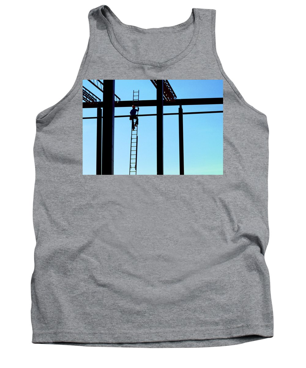 Steel Tank Top featuring the photograph Steel Construction by Jerry McElroy