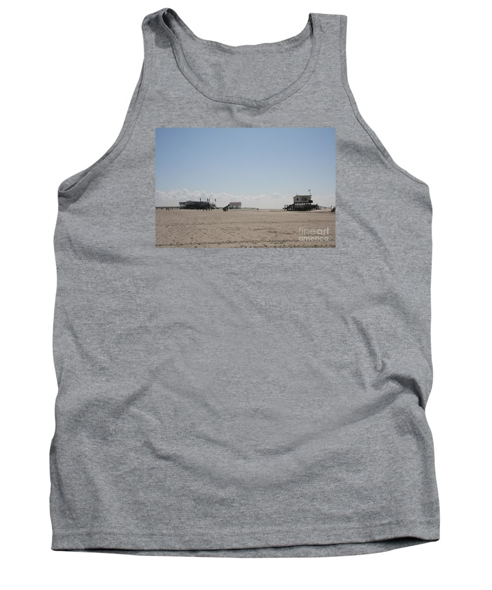 Beach Tank Top featuring the photograph Stilt Houses - North Sea - Germany by Christiane Schulze Art And Photography