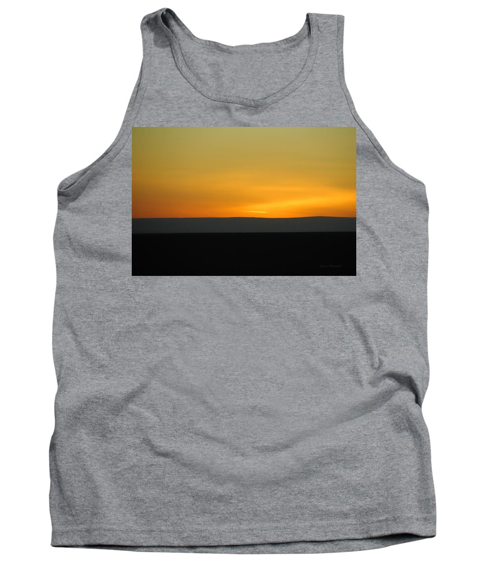 Sunset Tank Top featuring the photograph Stiped Sunset by Donna Blackhall