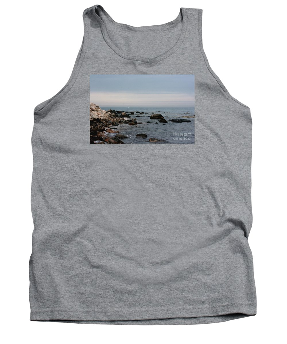 Ocean Tank Top featuring the photograph Storm At Sea In Rhode Island by Marcel J Goetz Sr