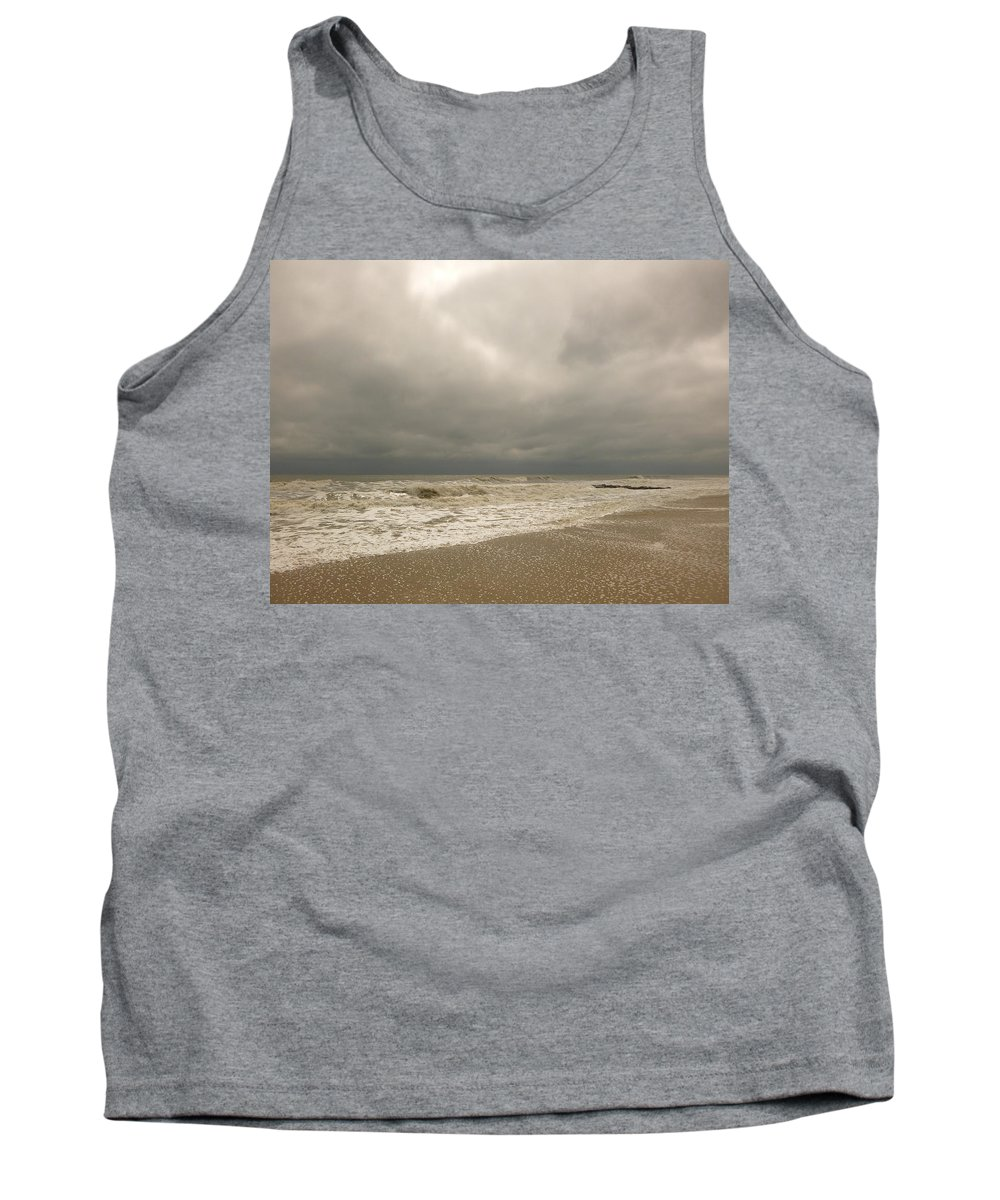 Sea Tank Top featuring the photograph Storm Clouds by Ellen Paull