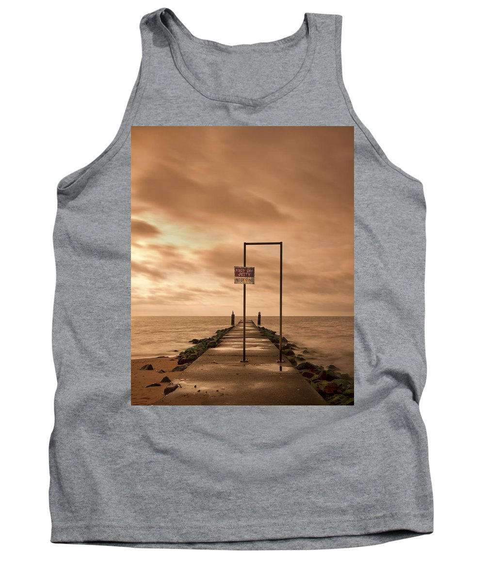 Midland Tank Top featuring the photograph Storm Warning by Evelina Kremsdorf