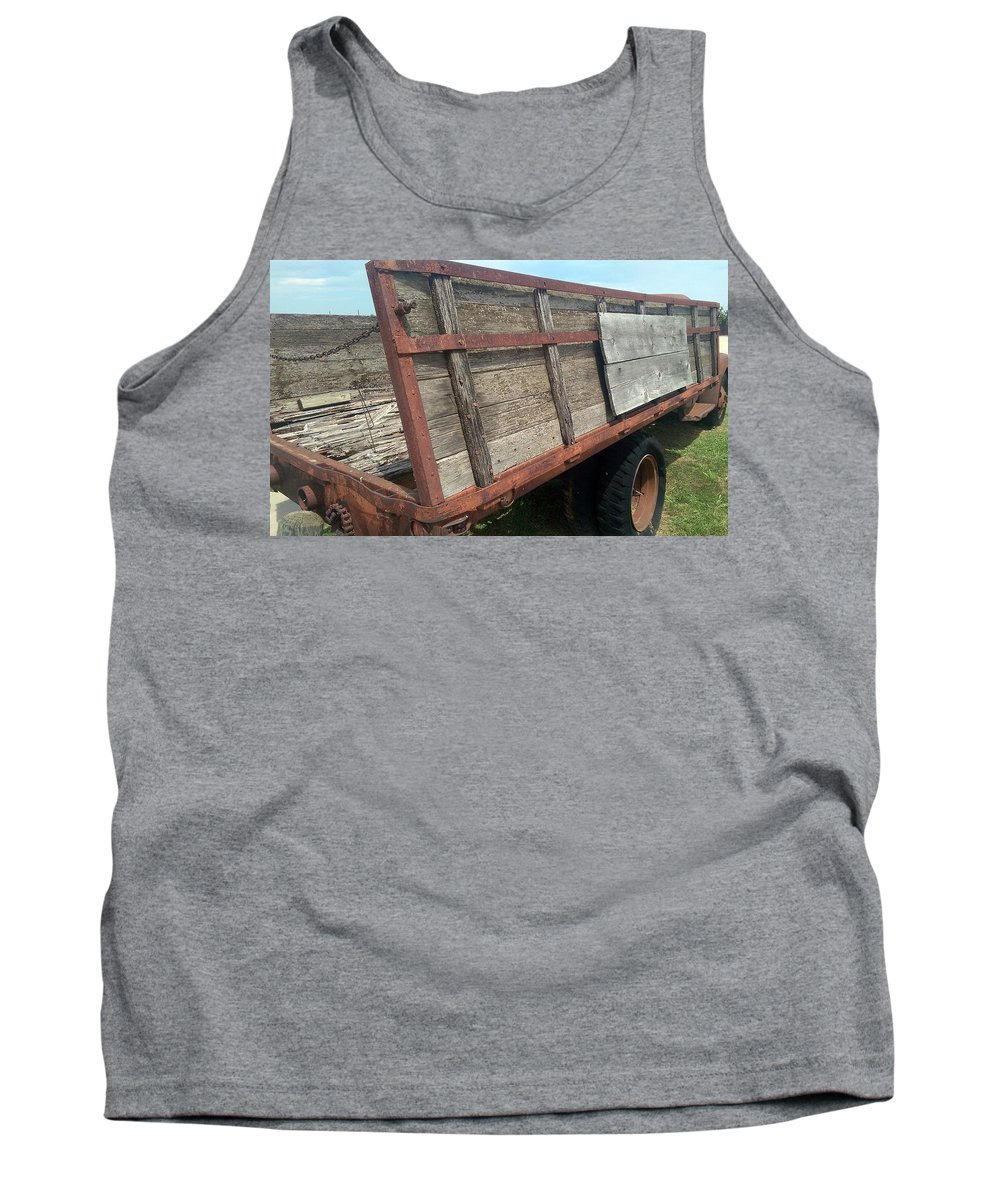 Truck Tank Top featuring the photograph Straight As It Gets by Glenn Aker