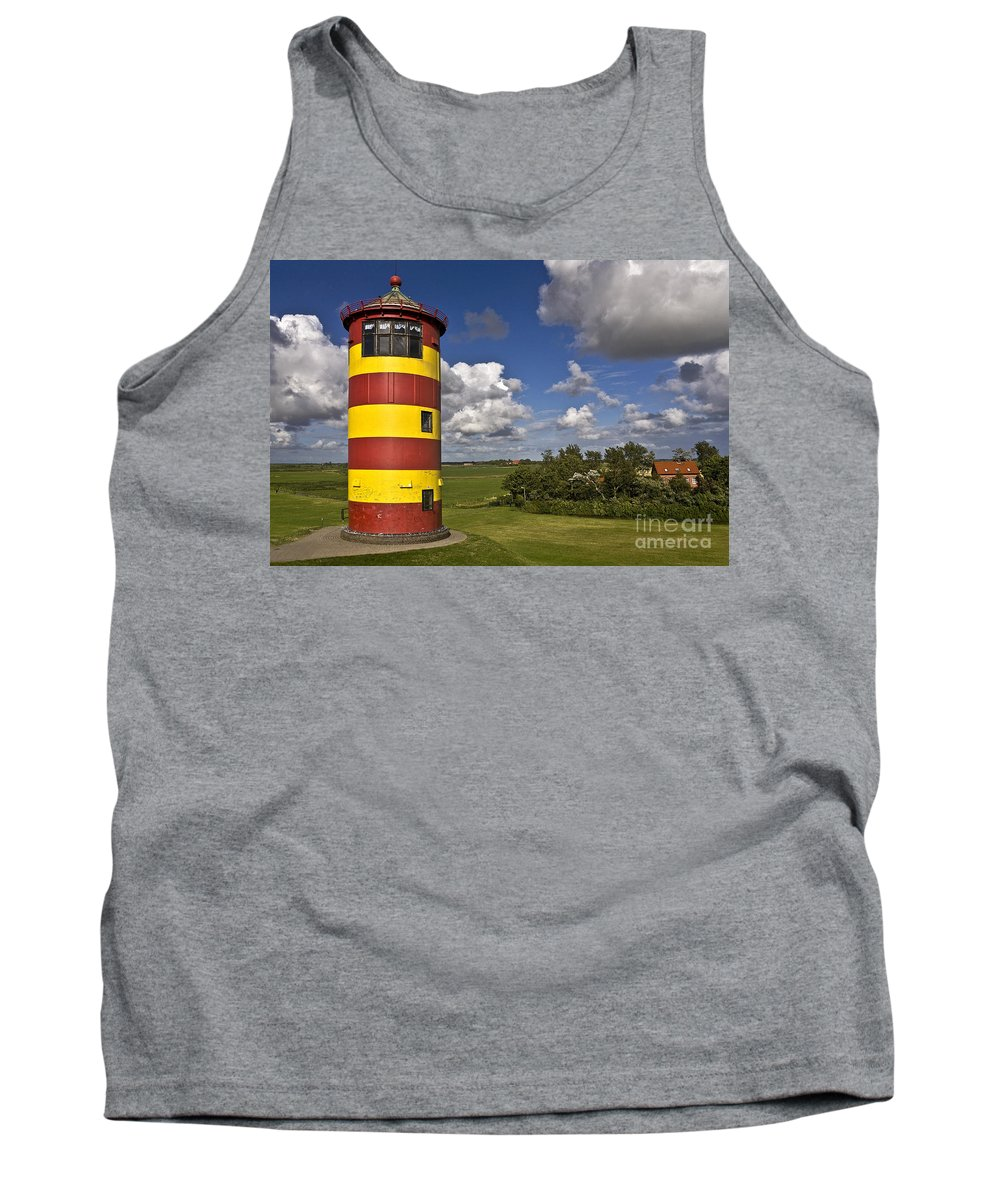Heiko Tank Top featuring the photograph Striped Lighthouse by Heiko Koehrer-Wagner