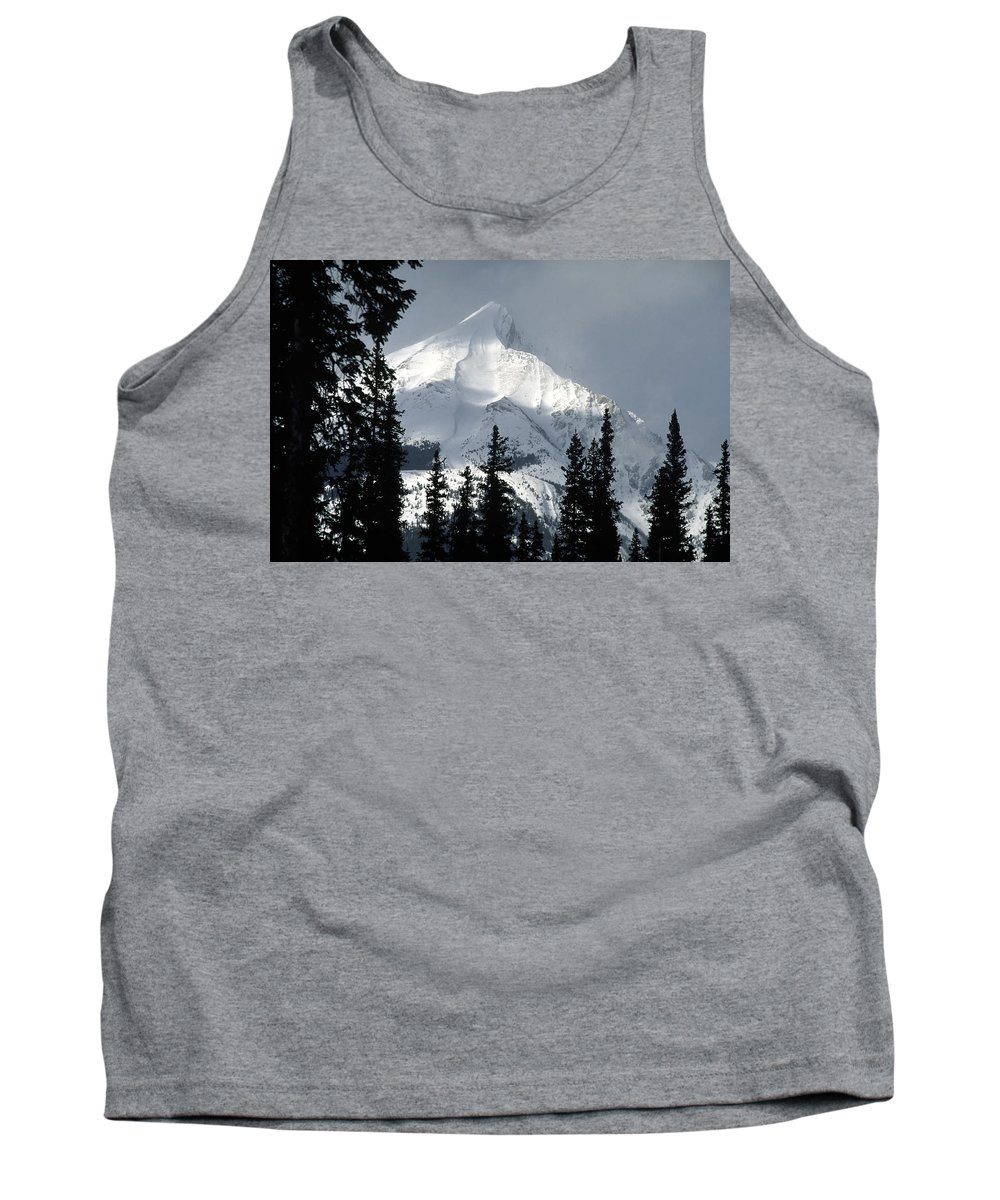 Americas Tank Top featuring the photograph Sugar Icing Mountain Top by Roderick Bley