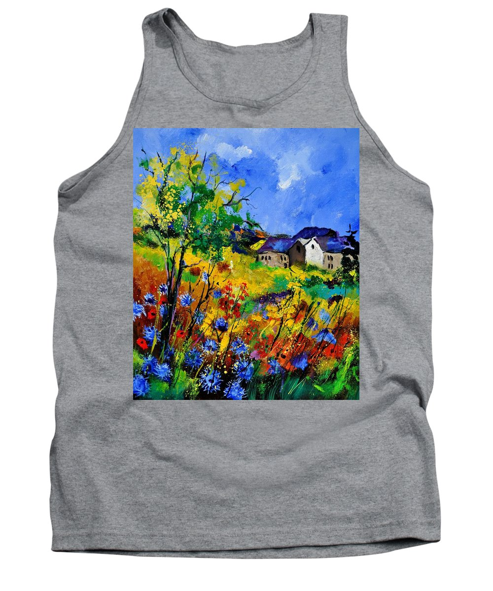 Landscape Tank Top featuring the painting Summer 673180 by Pol Ledent