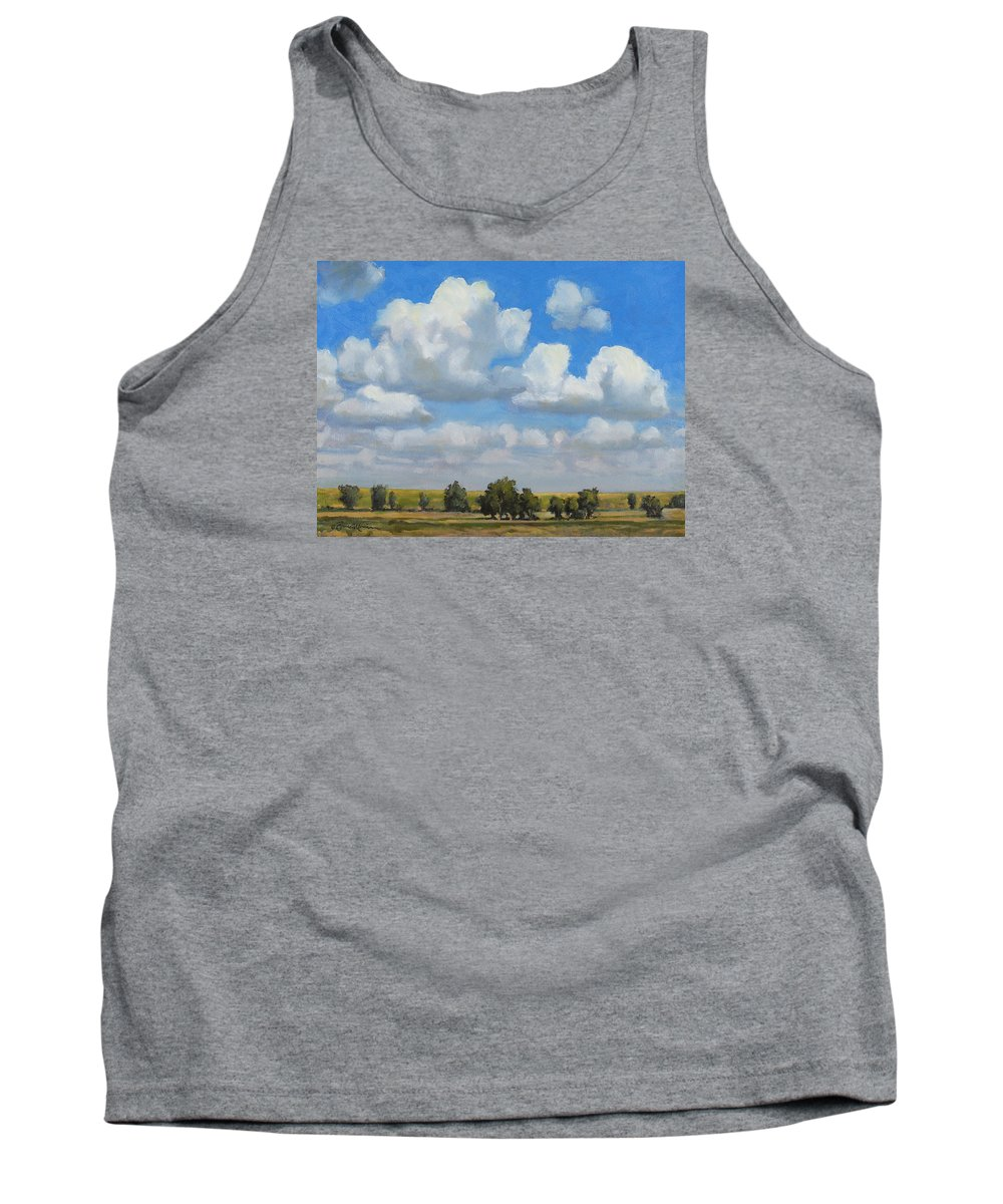 Landscape Tank Top featuring the painting Summer Pasture by Bruce Morrison