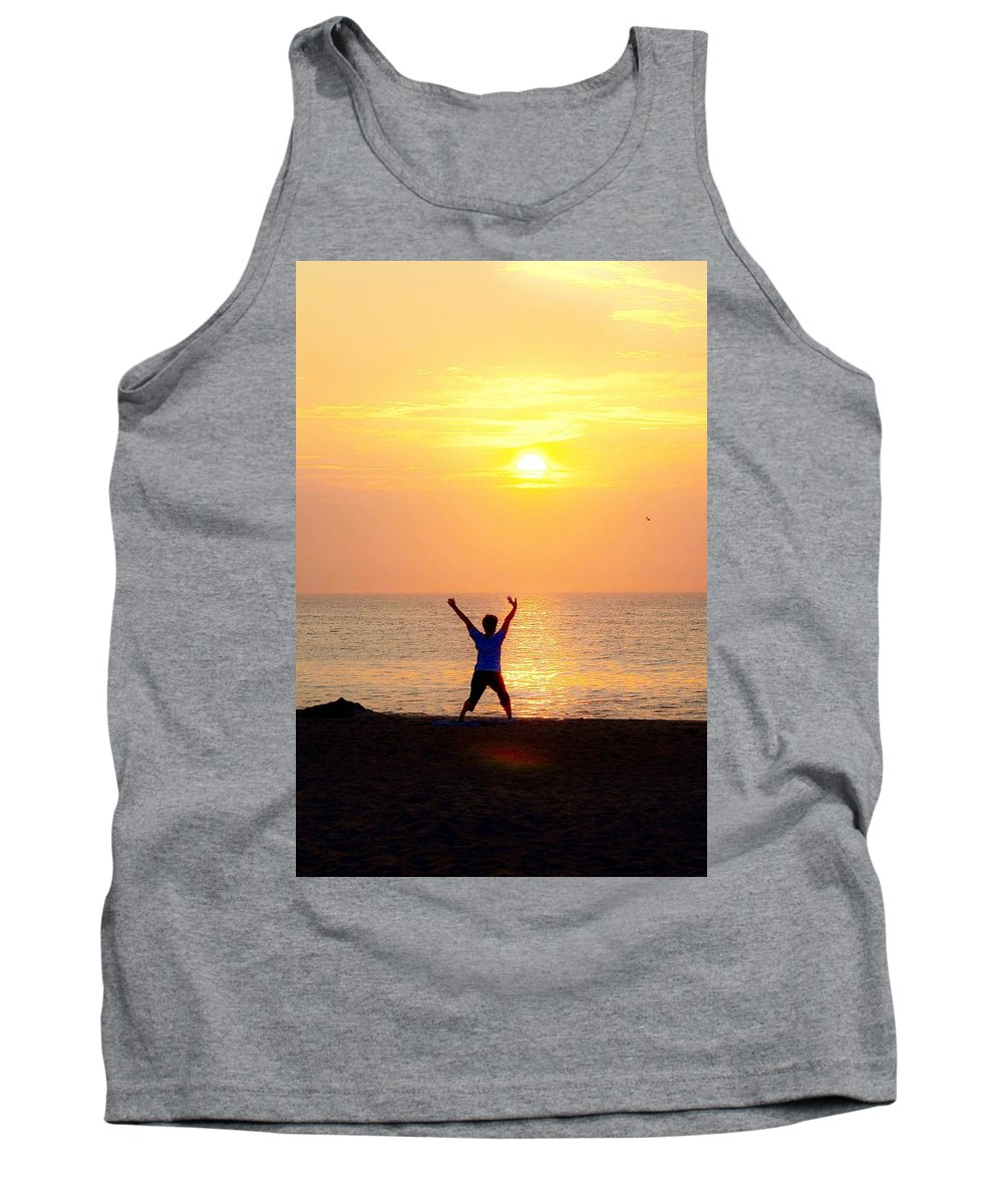 Yoga Tank Top featuring the photograph Sun Salutations by Kim Bemis