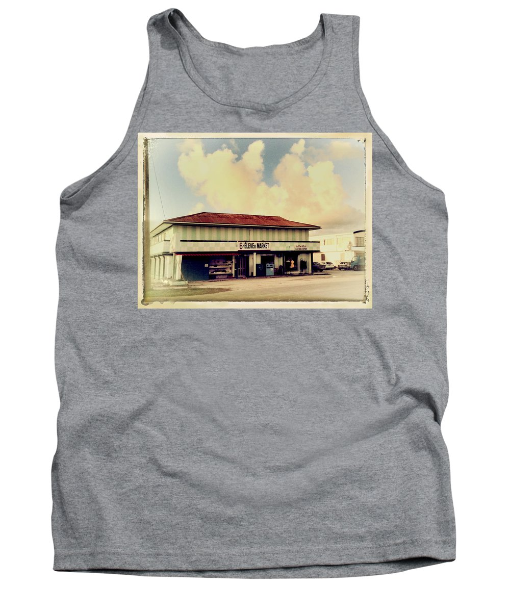 Little Market Tank Top featuring the photograph Sunday Morning At The 6-eleven by Dominic Piperata