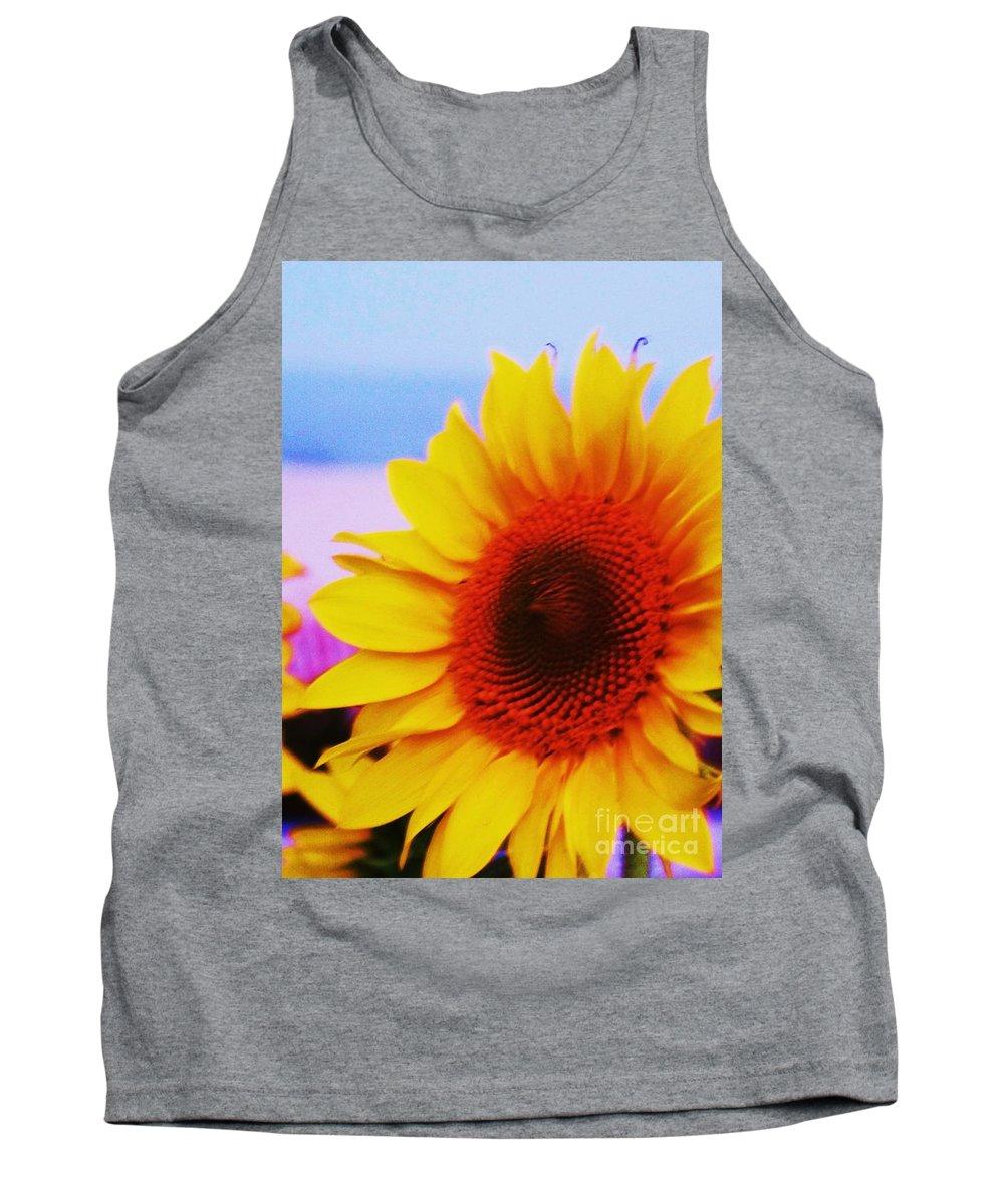 Sunflower Tank Top featuring the photograph Sunflower At Beach by Eric Schiabor