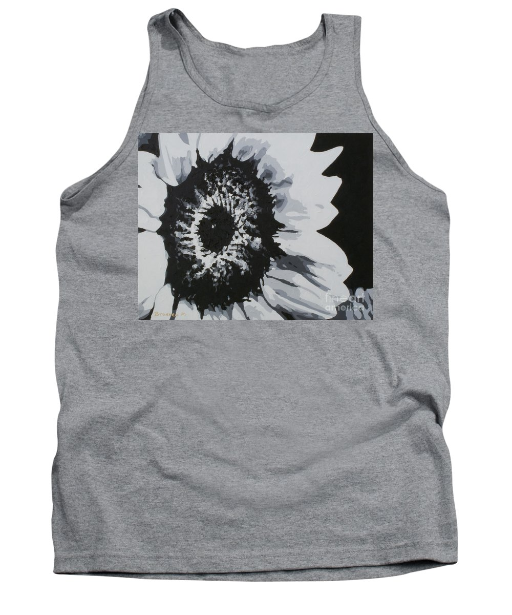 Sunflower Tank Top featuring the painting Sunflower by Katharina Filus
