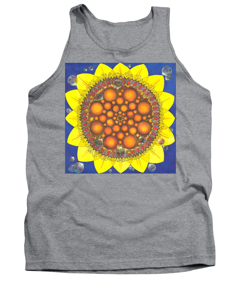 Sunflower Tank Top featuring the painting Sunflower Tangle by Catherine G McElroy