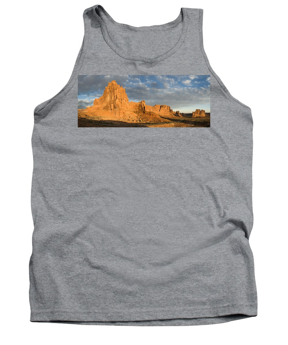 Photography Tank Top featuring the digital art Sunrise At La Sal Mountians by Neal Hebert