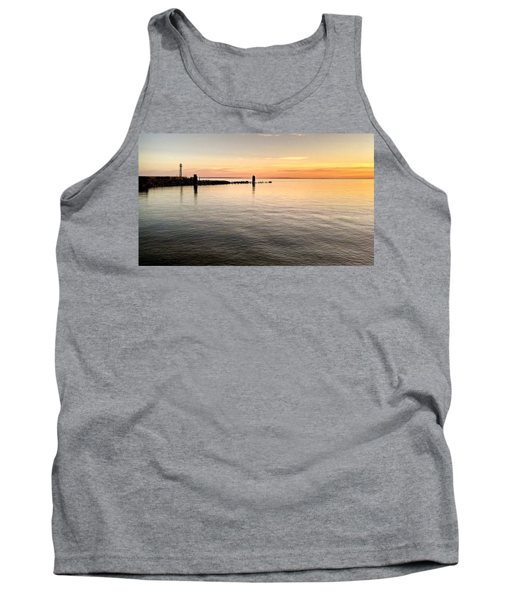 St Ignace Tank Top featuring the photograph Sunrise At The Straits by Kim Ruley