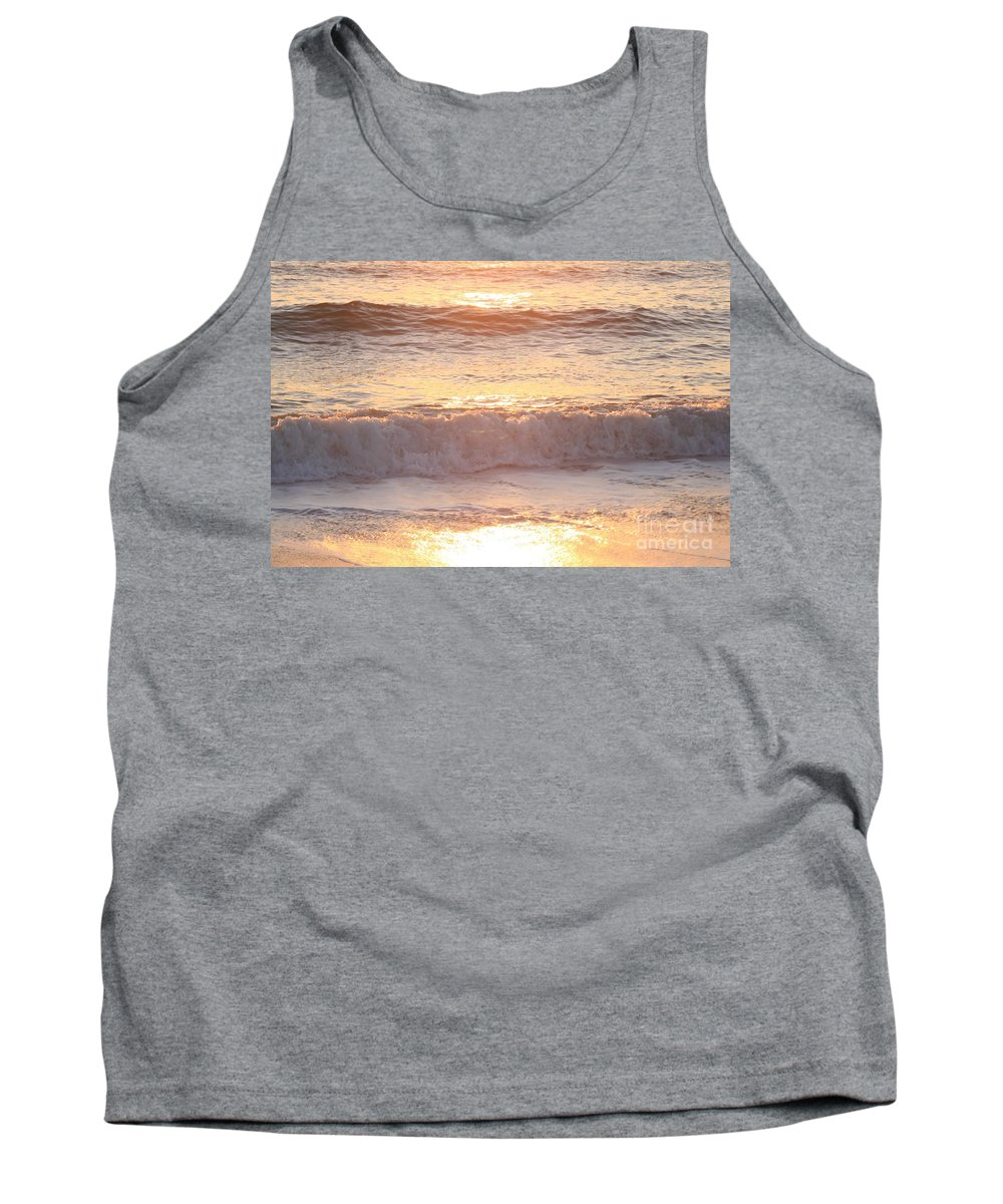 Waves Tank Top featuring the photograph Sunrise Waves by Nadine Rippelmeyer