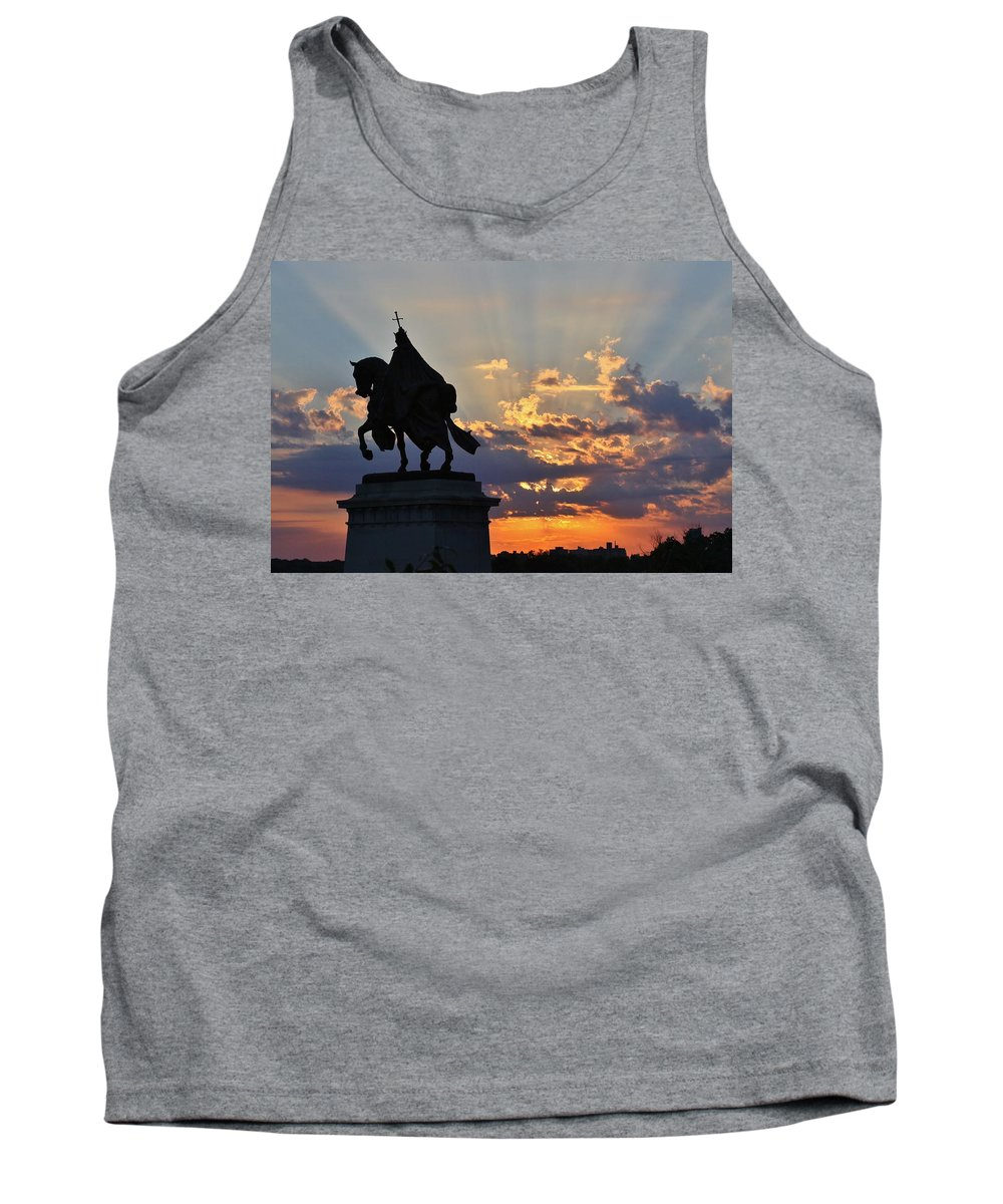 Saint Louis Tank Top featuring the photograph Sunrise With Saint Louis The 9th by Christopher Miles Carter