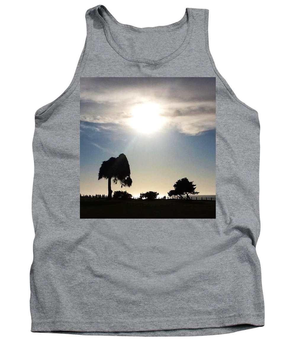 Waves Tank Top featuring the photograph Sunset At La Jolla by Susan Garren