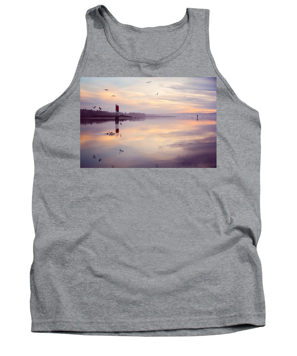 Coos Bay Tank Top featuring the photograph Sunset At The Hollering Place by Sally Bauer