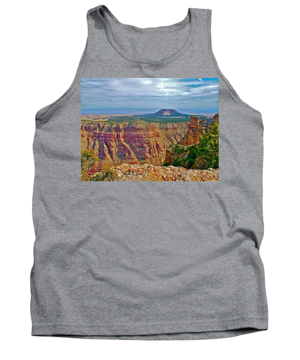 Sunset Crater View From Desert View On East Side Of South Rim Grand Canyon National Park Tank Top featuring the photograph Sunset Crater View From Desert View On East Side Of South Rim Grand Canyon National Park-arizona by Ruth Hager