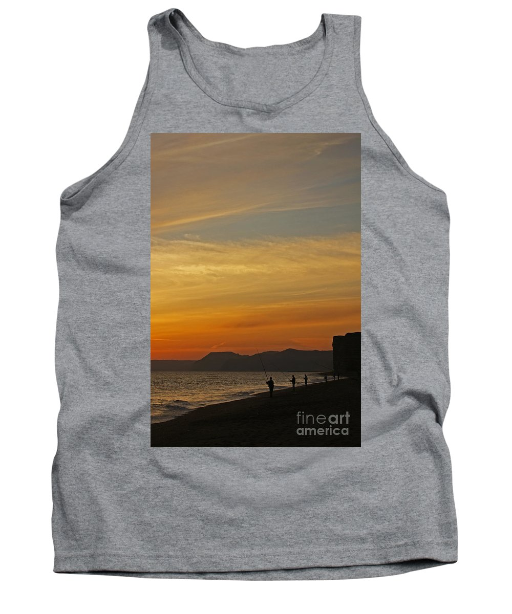 Sunset Tank Top featuring the photograph Sunset Hive Beach Summer 2010 Four by Simon Kennedy