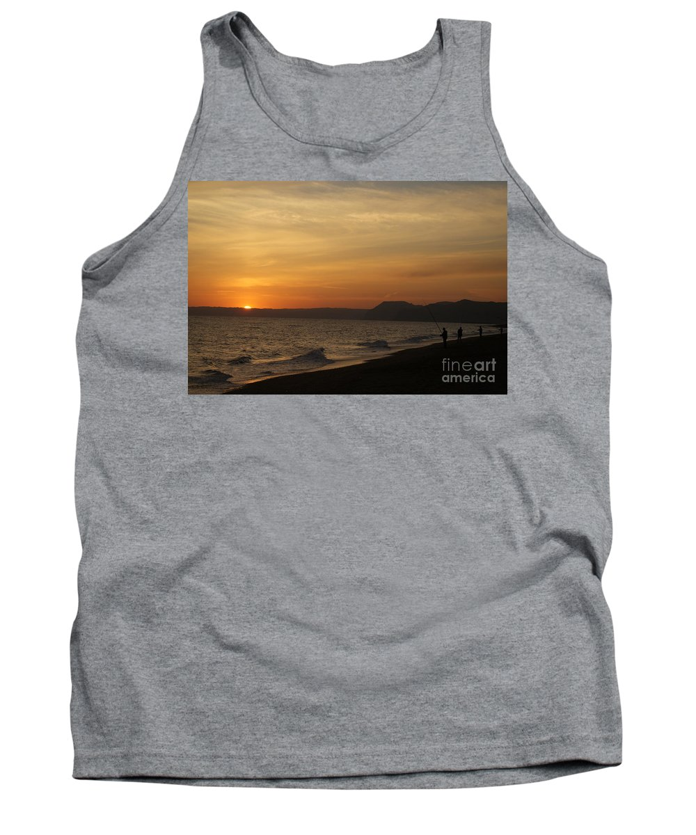 Sunset Tank Top featuring the photograph Sunset Hive Beach Summer 2010 Two by Simon Kennedy
