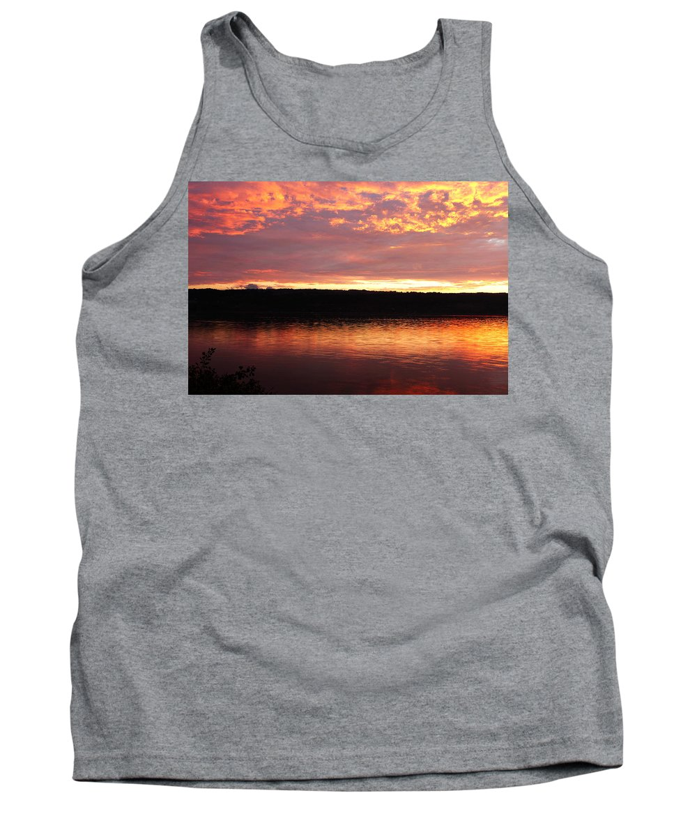 Ithaca Tank Top featuring the photograph Sunset On Cayuga Lake Cornell Sailing Center Ithaca New York II by Paul Ge