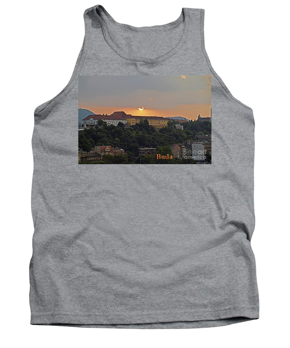 Budapest Tank Top featuring the photograph Sunset Over Budapest by Howard Stapleton
