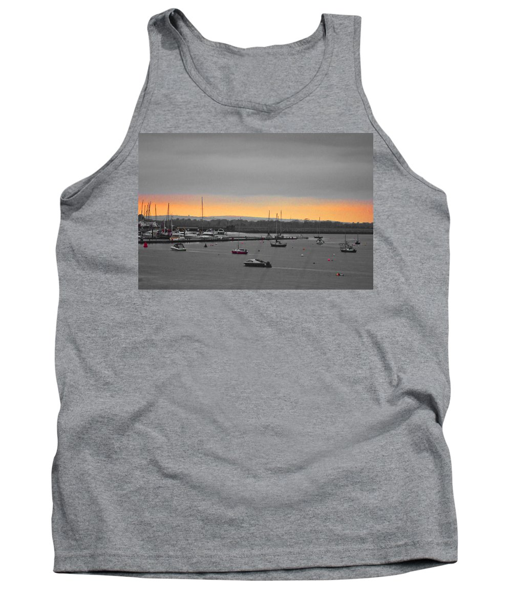 Sunset Tank Top featuring the photograph Sunset Romance by Alex Art and Photo