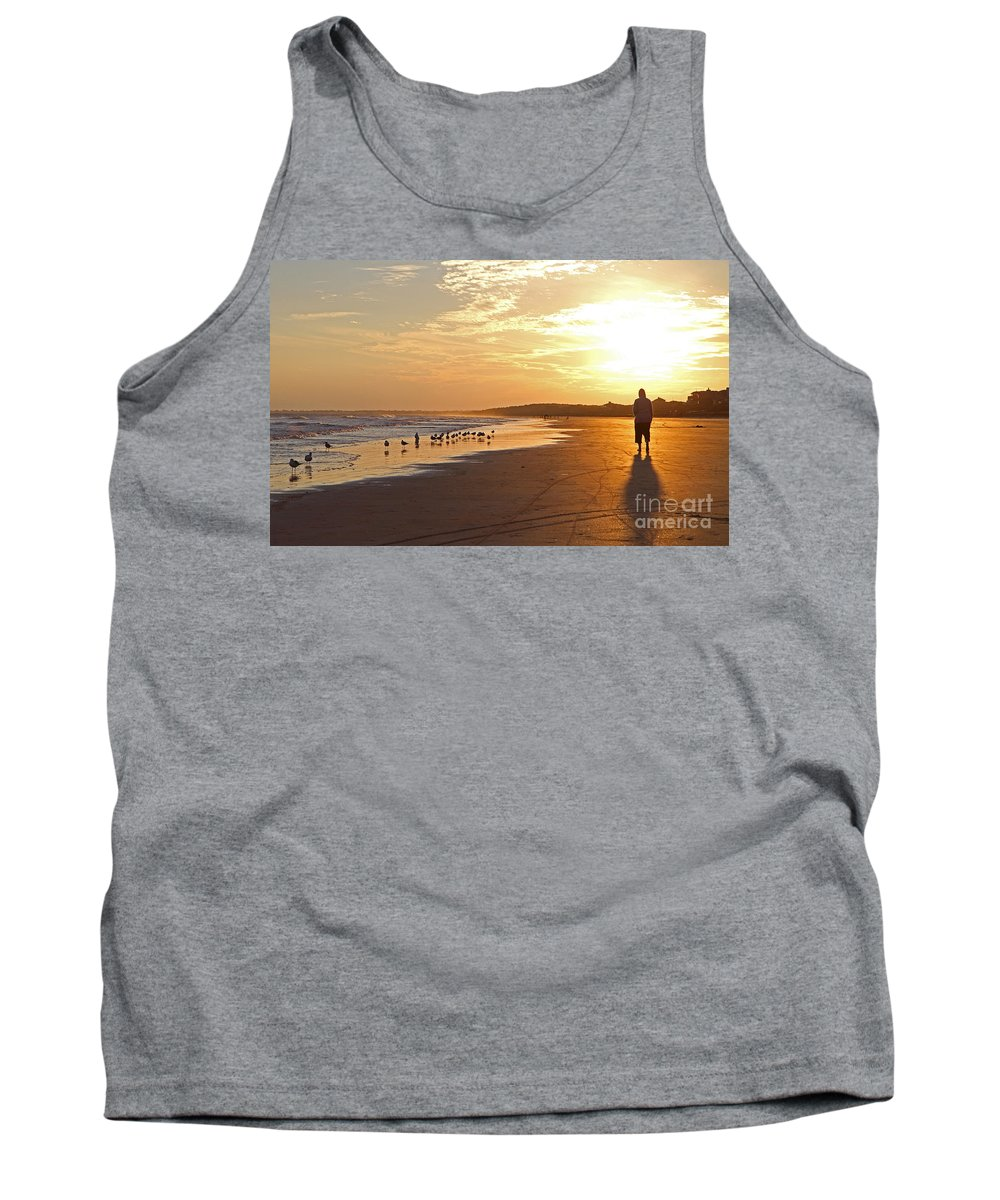 Sunset Tank Top featuring the photograph Sunset Stroll by Kevin McCarthy
