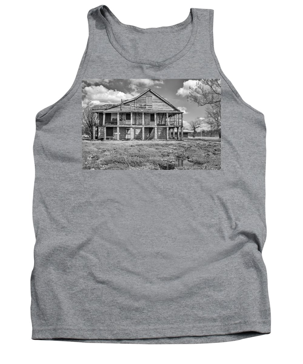 Us Tank Top featuring the photograph Sunshine And Devastation Bw by Steve Harrington