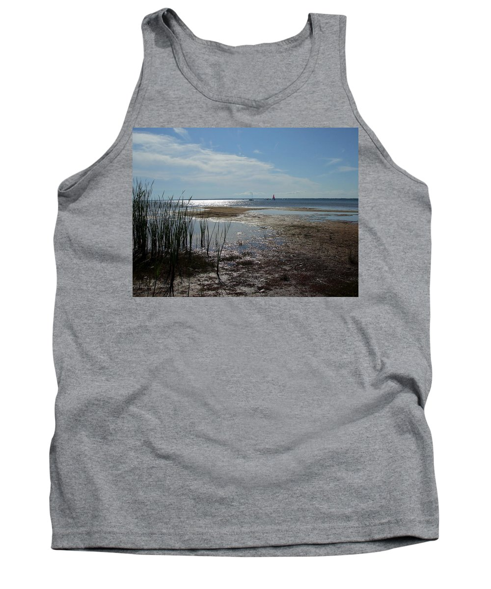 Sun Tank Top featuring the photograph Sunshine On The Bay by Susan Wyman