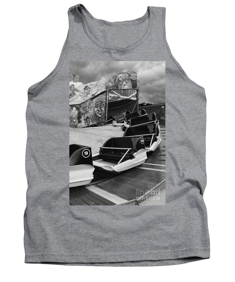 Monochrome Tank Top featuring the photograph Super Bob At The Funfair by Terri Waters