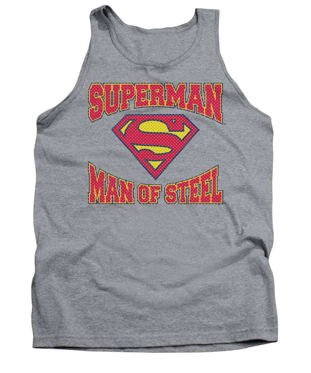 Superman Tank Top featuring the digital art Superman - Man Of Steel Jersey by Brand A