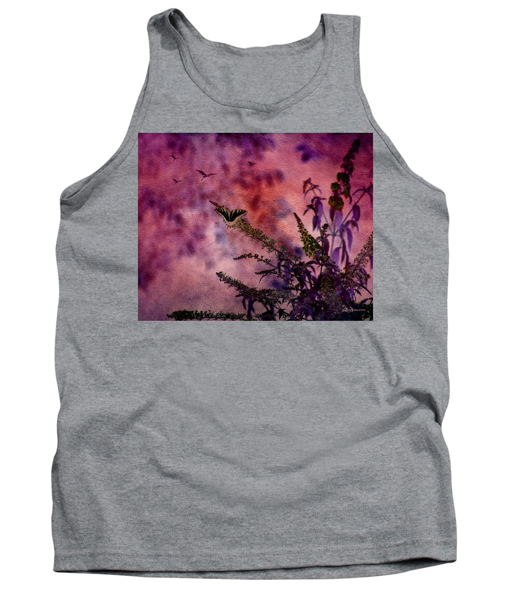 Butterfly Tank Top featuring the photograph Swallowtail In The Butterfly Bush - Featured In The Wildlife And Comfortable Art And Newbies Groups by Ericamaxine Price