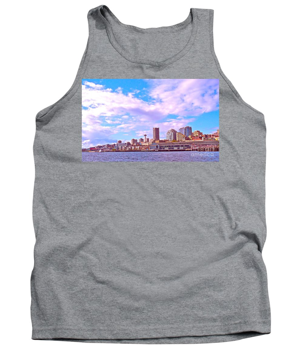 Seattle Tank Top featuring the photograph Sweet Seattle by Gem S Visionary
