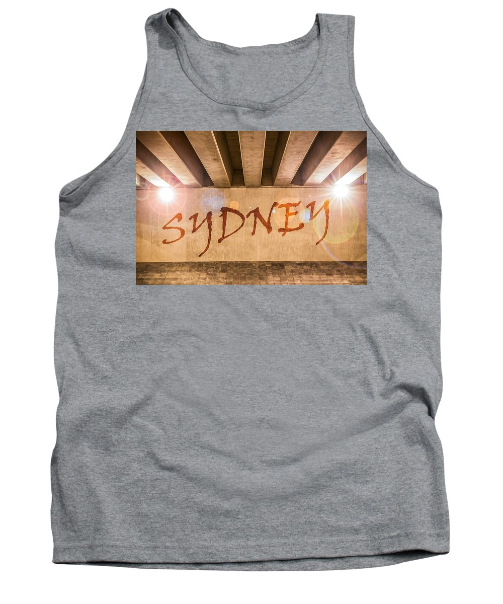 Abstract Tank Top featuring the photograph Sydney by Semmick Photo