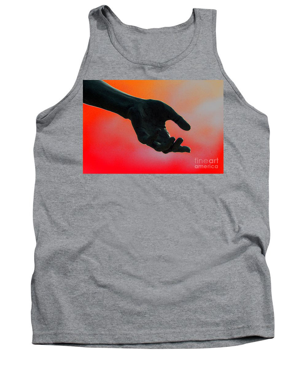 Hand Tank Top featuring the photograph Take It by Joe Geraci