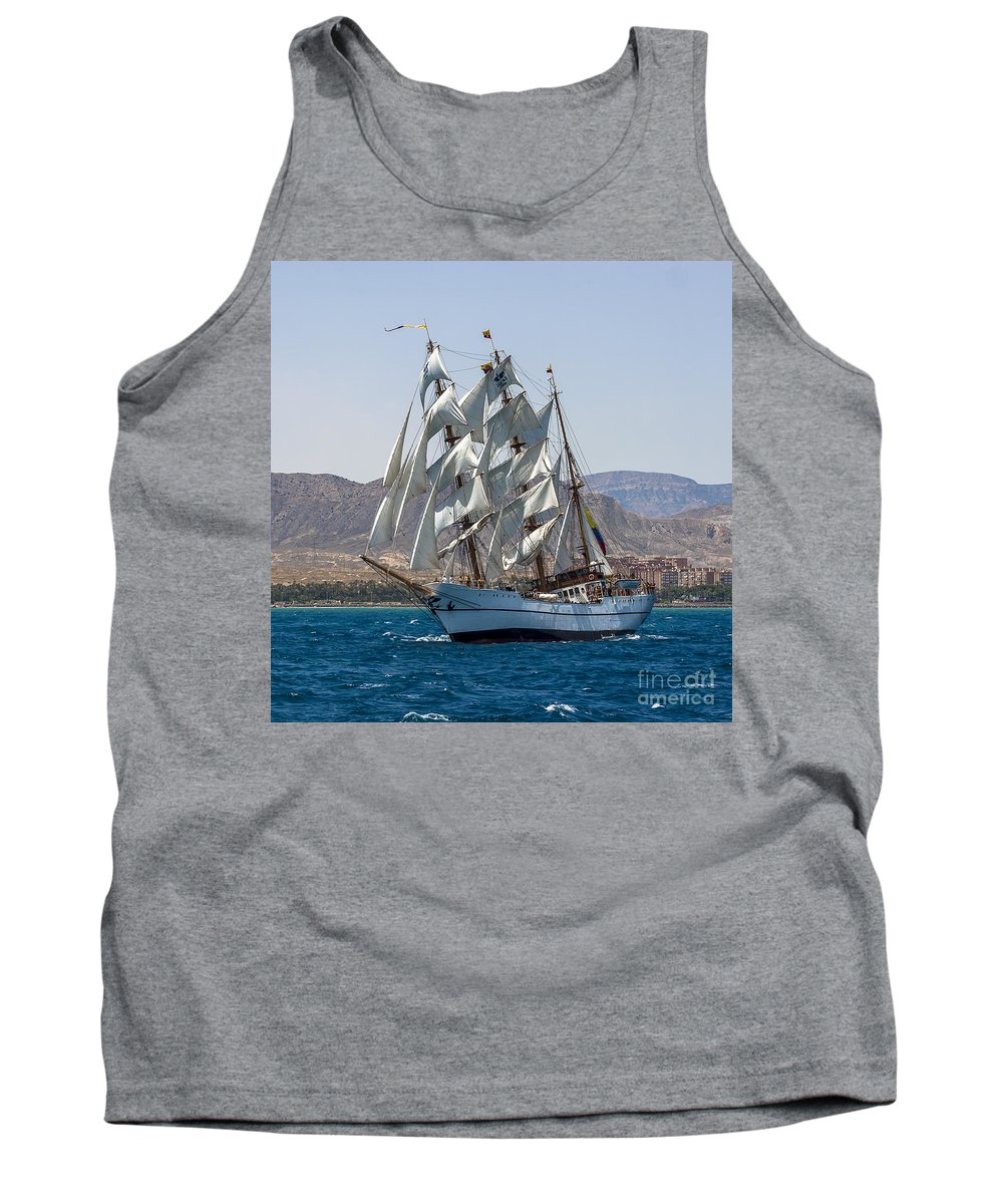Tall Ships Tank Top featuring the photograph Tall Ship Guayas by Pablo Avanzini