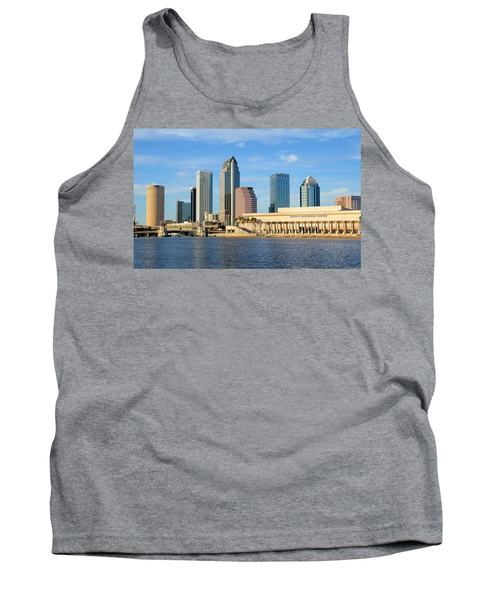 Fine Art Photography Tank Top featuring the photograph Tampa Bay Classic View by David Lee Thompson