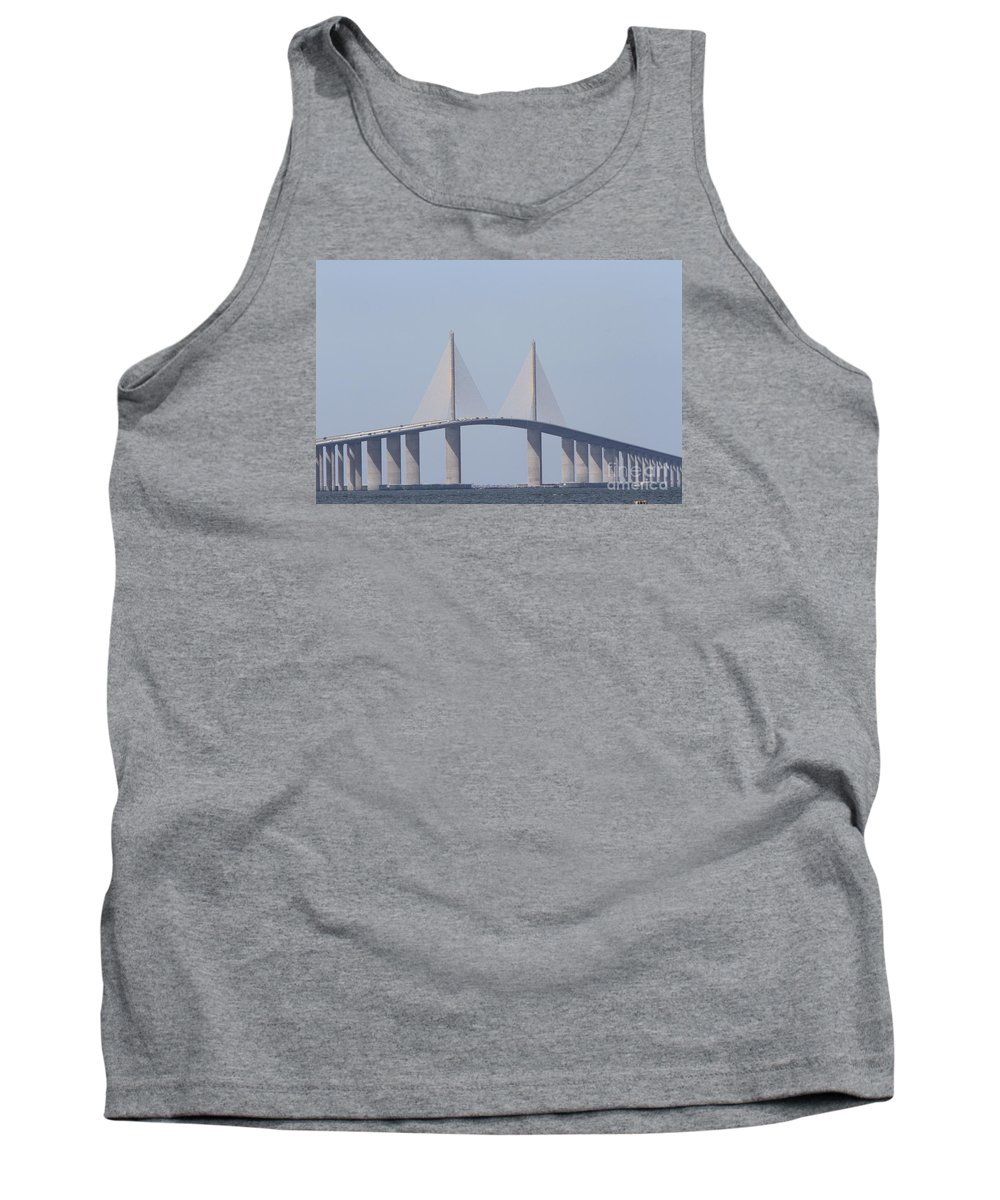 Bridge Tank Top featuring the photograph Tampa Sky Way Bridge by Christiane Schulze Art And Photography
