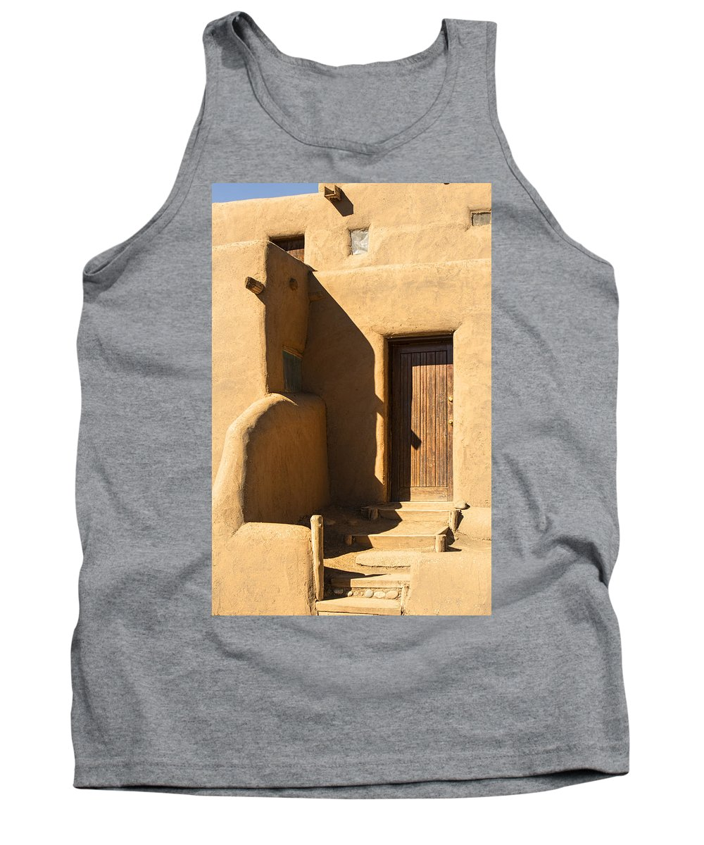 Southwest Tank Top featuring the photograph Taos Pueblo Doorway 8009 by Brian King