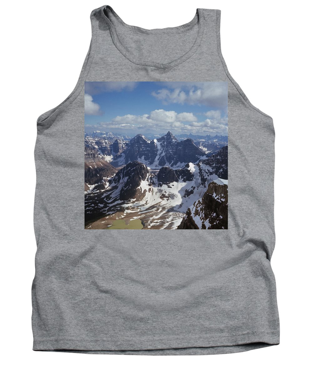 Ten Peaks Tank Top featuring the photograph T-703502-ten Peaks From Summit Of Mt. Lefroy by Ed Cooper Photography