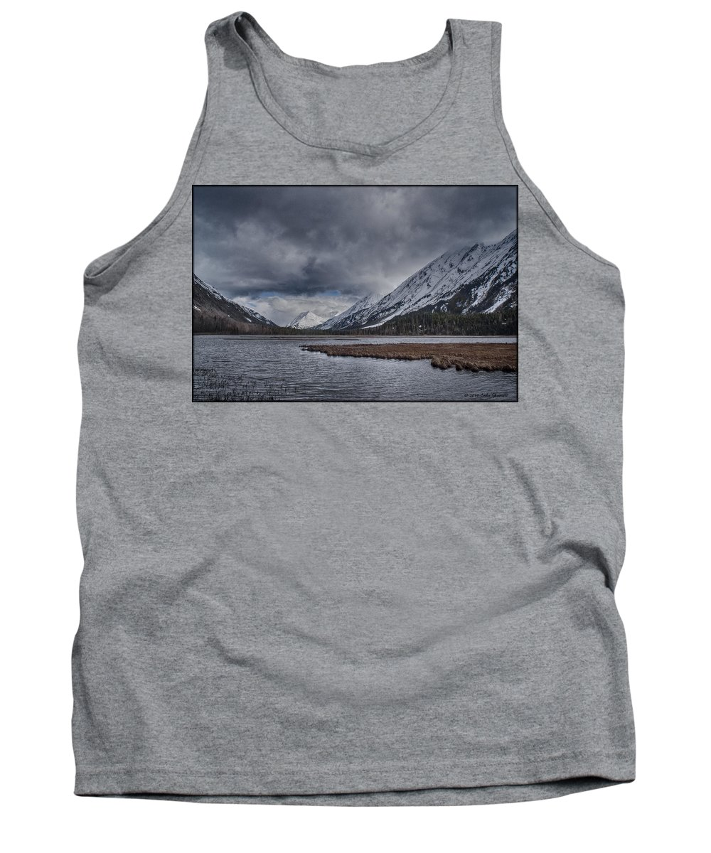 Water Tank Top featuring the photograph Tern Lake by Erika Fawcett
