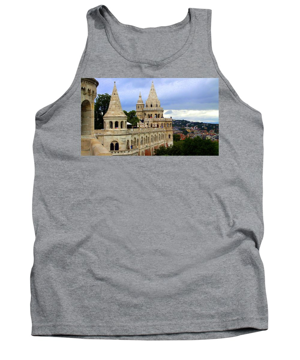 Terrace Tank Top featuring the photograph Terraces And Towers Of Fishermans Bastion by Laurel Talabere