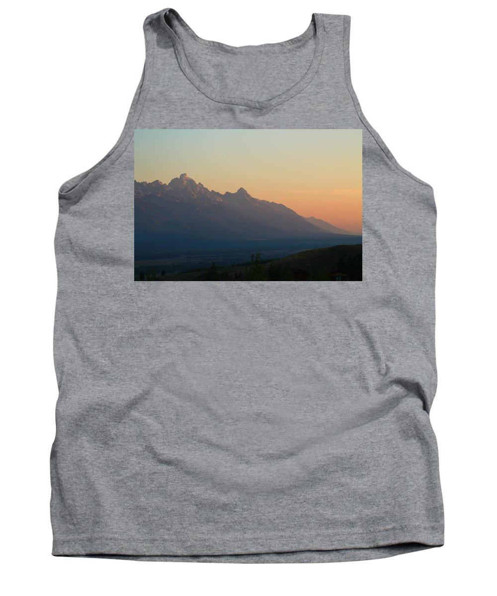 Jackson Hole Tank Top featuring the photograph Teton Sorbet by Catie Canetti