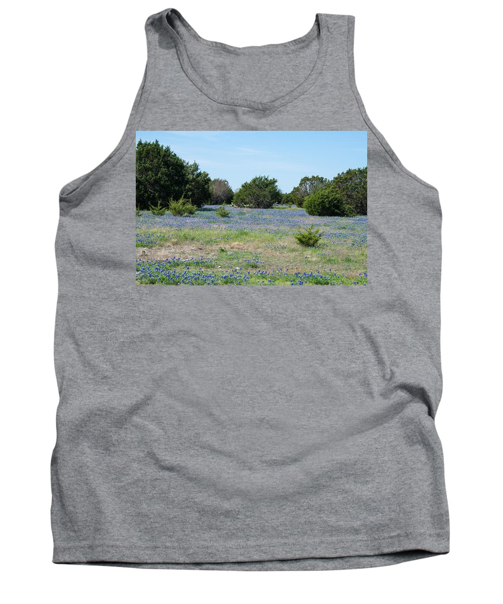 Texas Tank Top featuring the photograph Georgetown Texas Bluebonnet Spring by JG Thompson