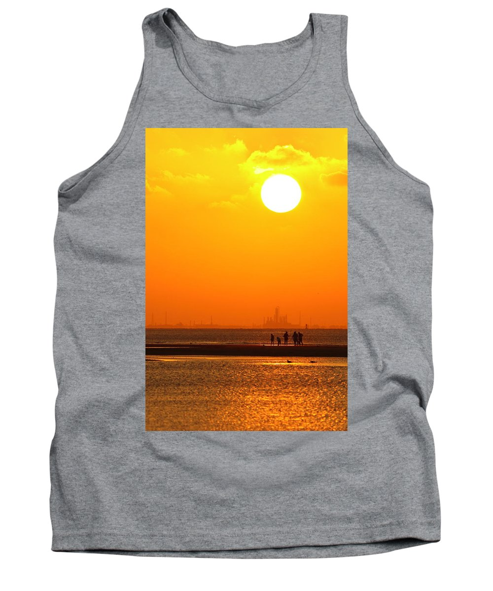 Texas City Tank Top featuring the photograph Texas City Sunset 2am-12561 by Andrew McInnes